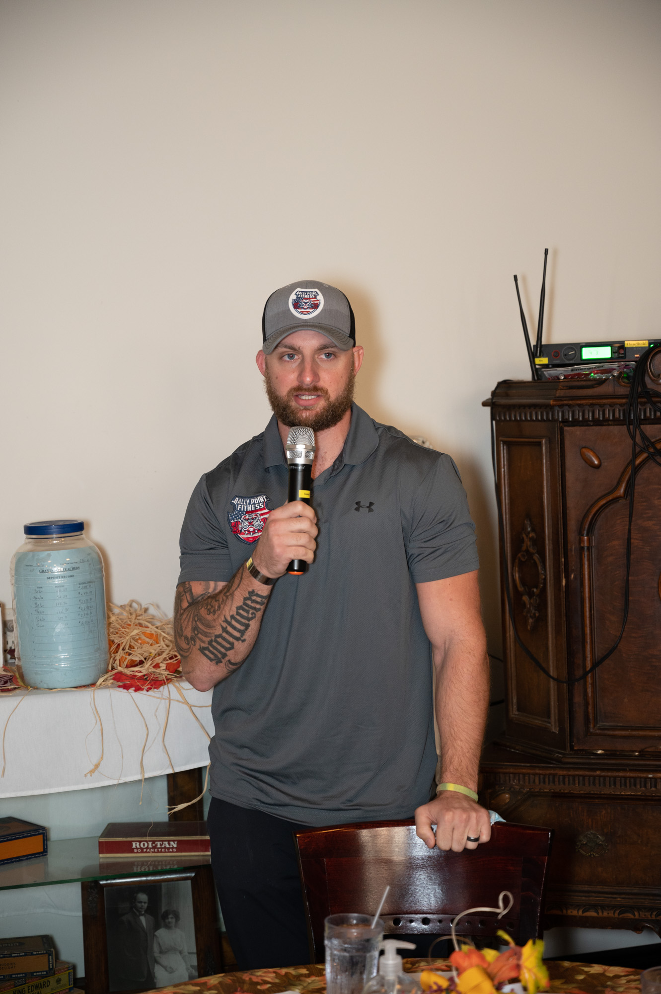 Gunnar talked to members about his new fitness center, Rally Point Fitness.