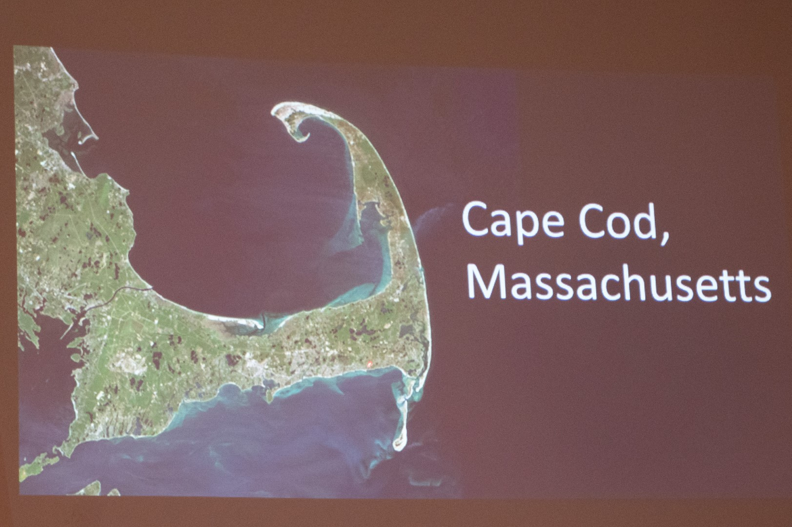 Terri talked to members about the five years she spent living on Cape Cod.