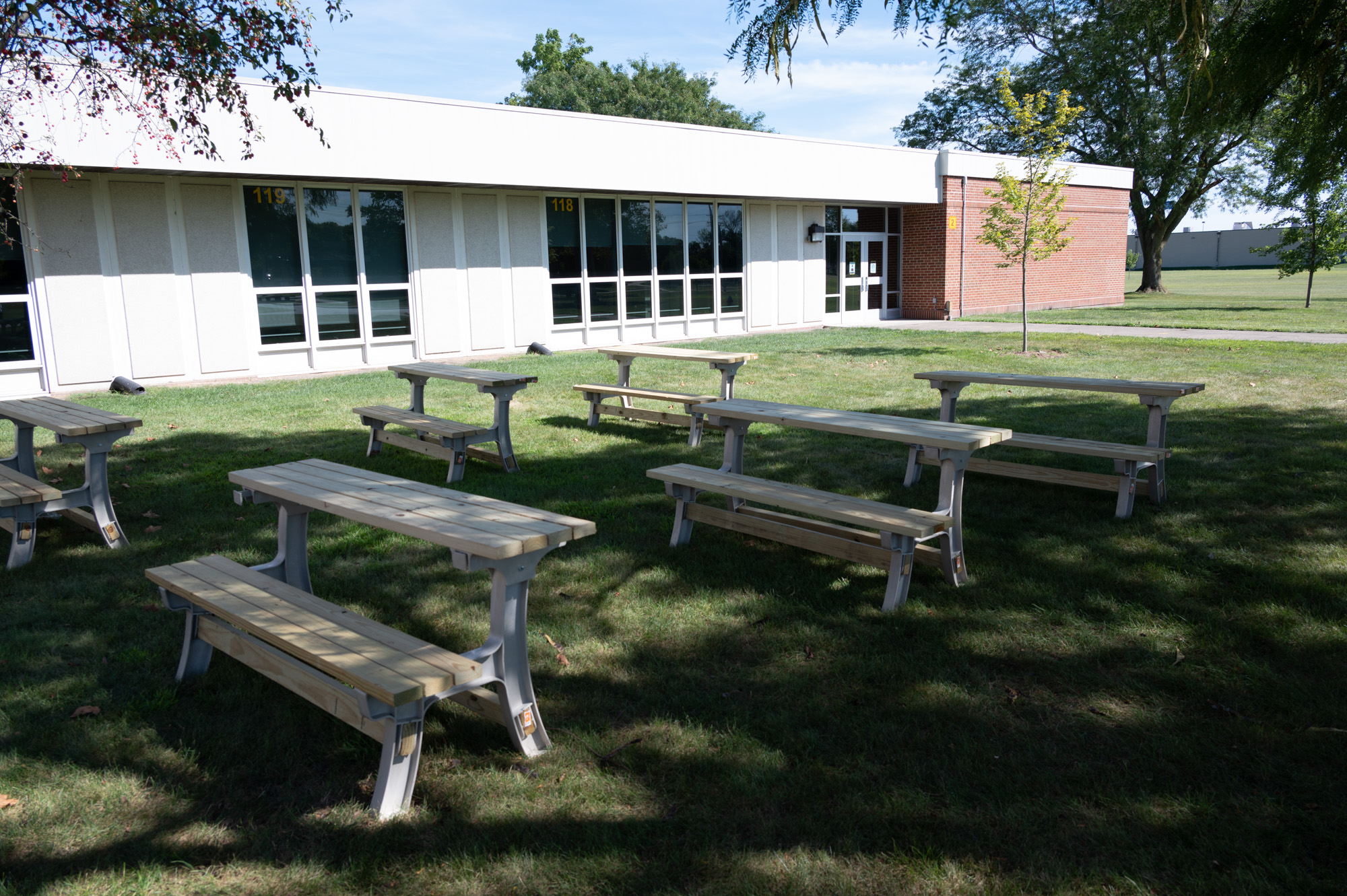 Outside classroom at East-Prairie Middle School
