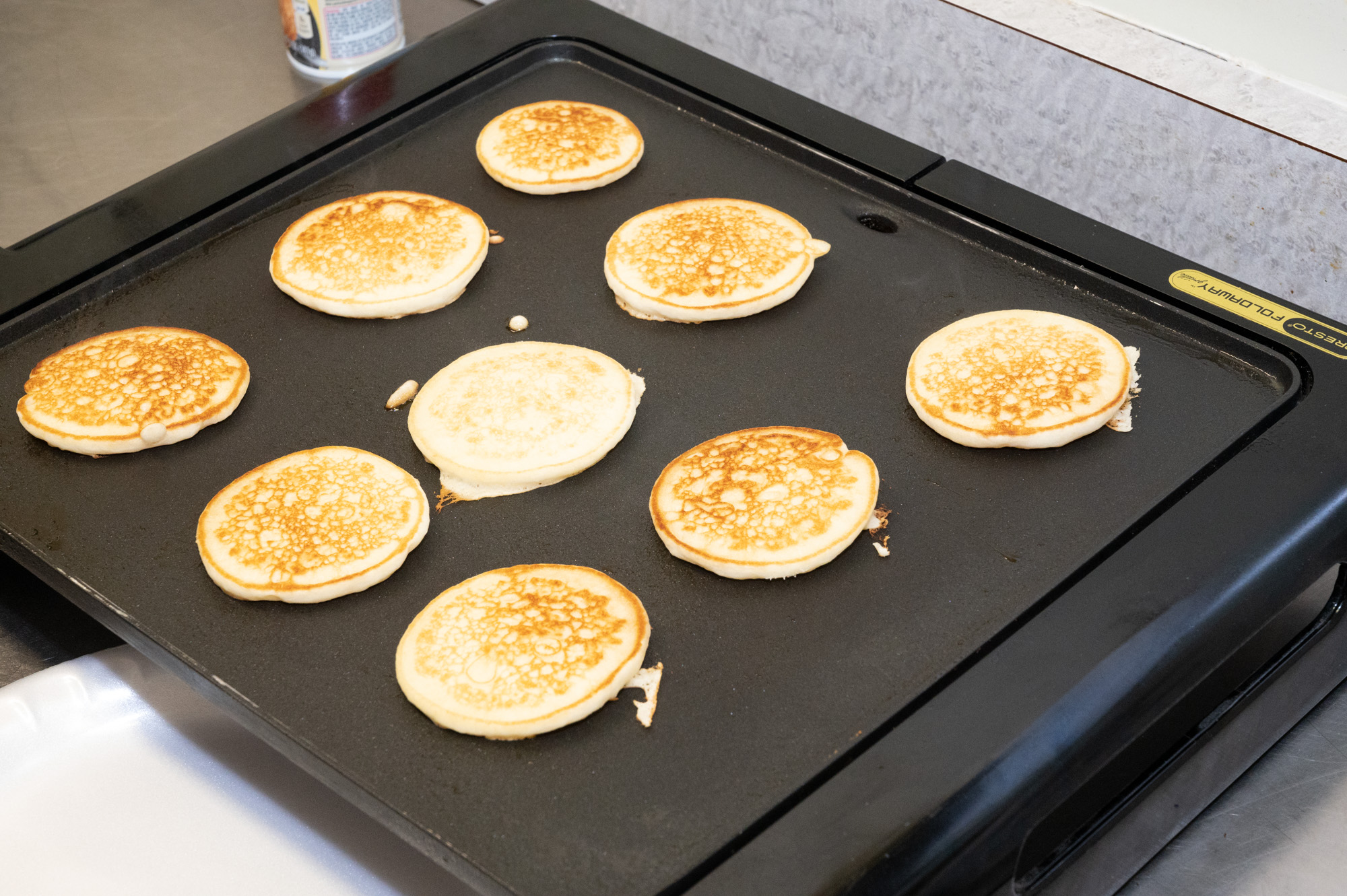 Nice batch of small pancakes.